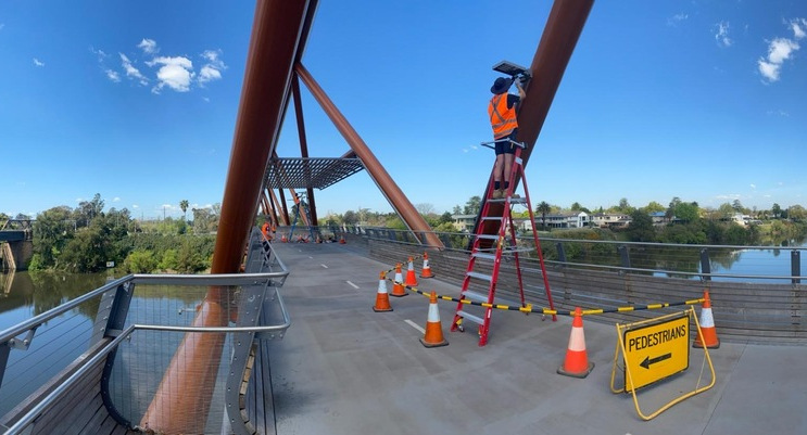 Temporary Lighting Installation - Yandhai Nepean Crossing (on behalf of RMS)