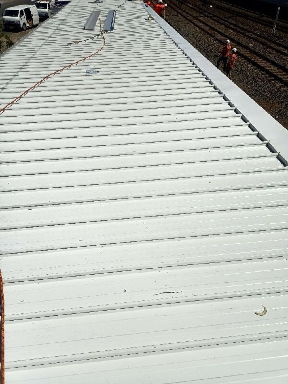 Roof and Gutter work, Sydney Trains, Lidcombe
