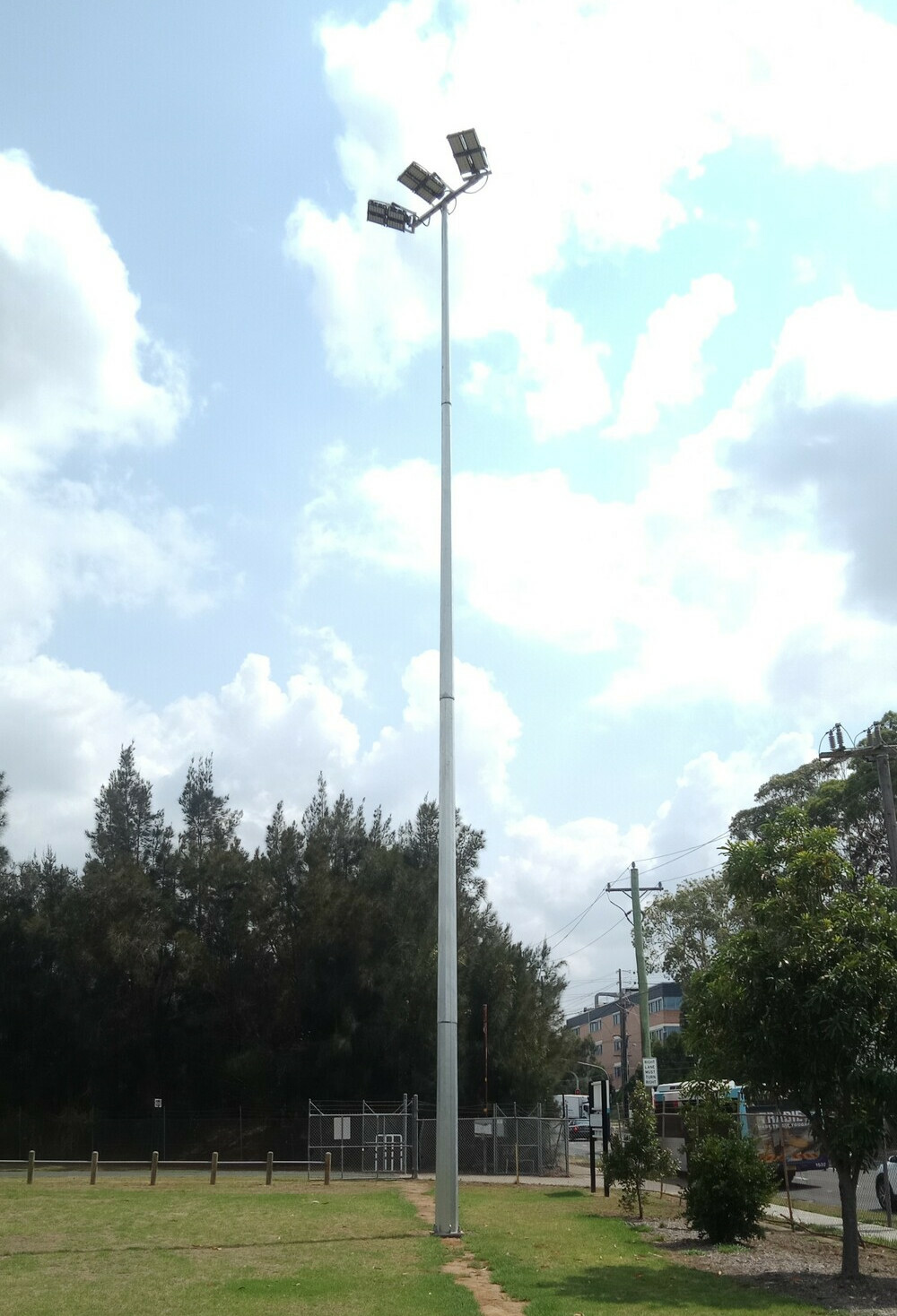Light and pole installation