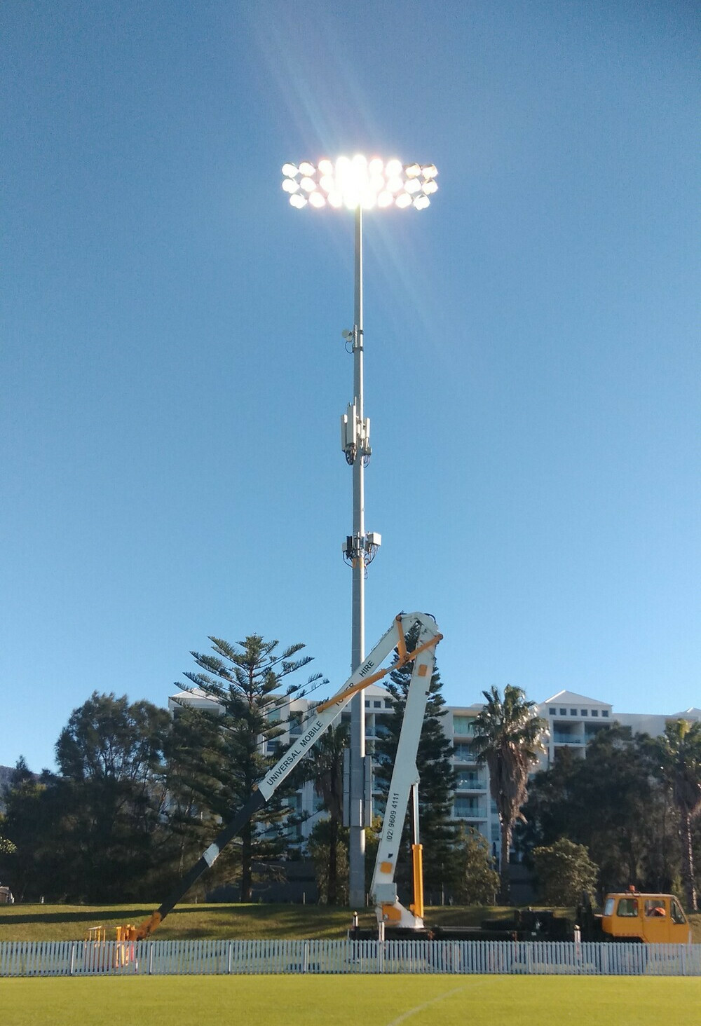 Lighting repairs for Musco lighting, Wollongong Council