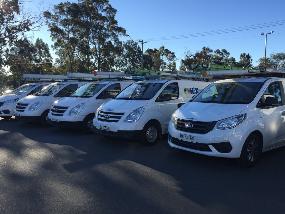 Part of the Hix Electrical & Data Fleet